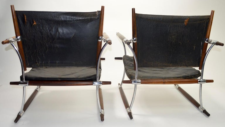 Pair of Quistgaard for Dansk Safari Lounge Chairs For Sale 10
