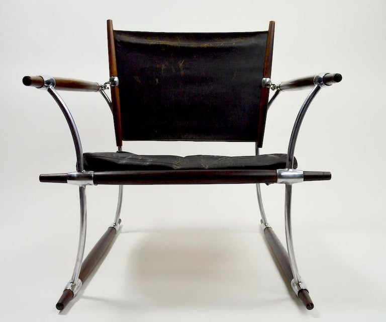 Pair of Quistgaard for Dansk Safari Lounge Chairs In Fair Condition For Sale In New York, NY