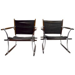 Pair of Quistgaard for Dansk Safari Lounge Chairs