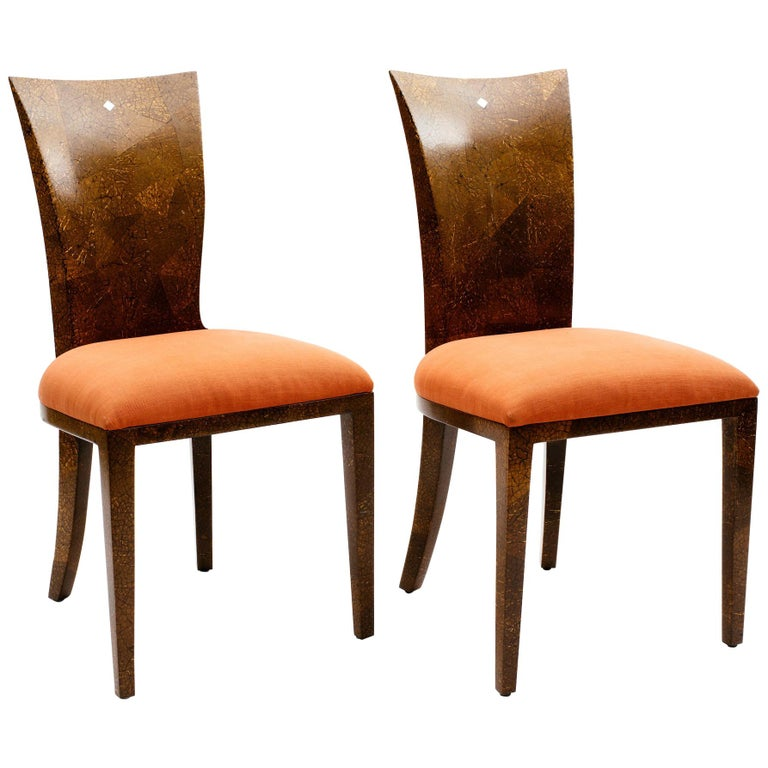 Pair of R & Y Augousti Coconut Shell Chairs For Sale