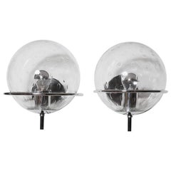 Pair of RAAK Bubble Globe Wall Sconces