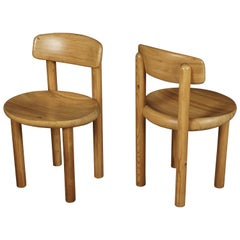 Pair of Rainer Daumiller Dining Chairs, Denmark, 1970s