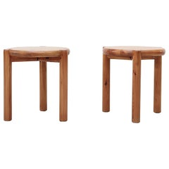 Pair of Rainer Daumiller Pine Stools or Side Tables
