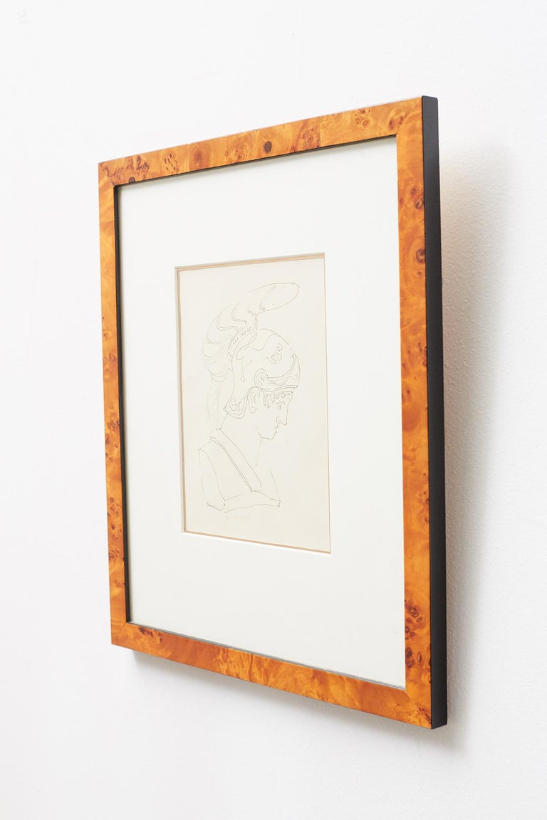 Pair of Ralph DuCasse Greco Roman Drawings For Sale 5