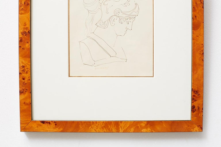 Pair of Ralph DuCasse Greco Roman Drawings For Sale 6