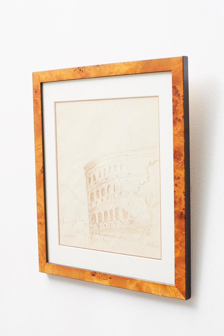 American Pair of Ralph DuCasse Greco Roman Drawings For Sale