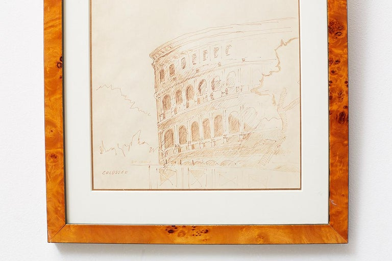 20th Century Pair of Ralph DuCasse Greco Roman Drawings For Sale