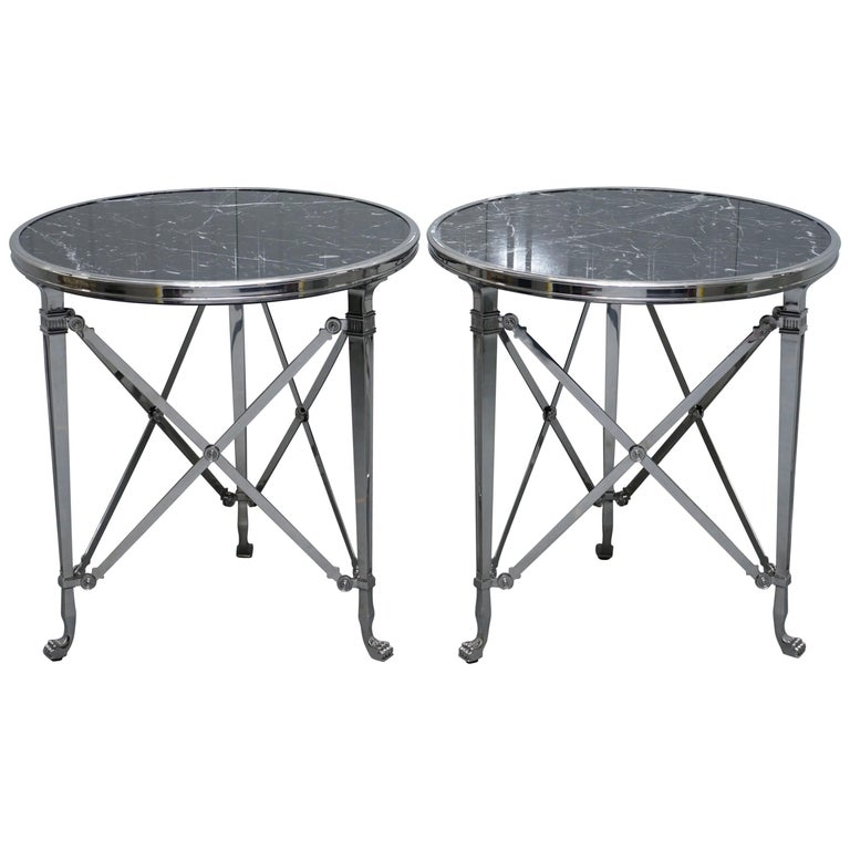 Pair Of Ralph Lauren Cannes Gueridon Occasional Tables