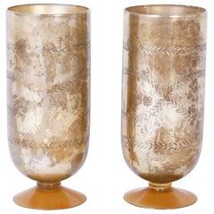 Pair of Ralph Lauren Glass Vases