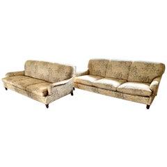 Pair of Ralph Lauren Matching Three-Seat Sofas
