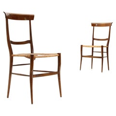 Pair of 'Ramba' Chiavari Chairs by Emanuele Rambaldi for Colombo Sanguineti 1950