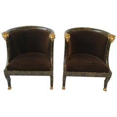 Pair of Rams Head Tub Chairs