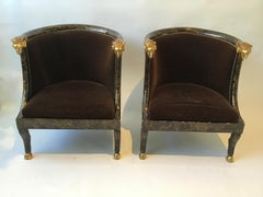 Pair of Rams Head Tub Chairs
