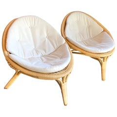 Pair of Rana Chairs by Nanna & Jorgen Ditzel