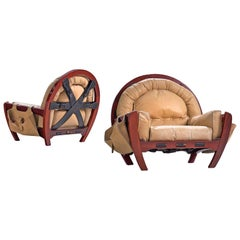 Pair of 'Rancero' Lounge Chairs of Luciano Frigerio