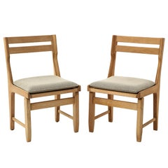"""Pair of """"Raphaël"""" Guillerme & Chambron Chairs, France, 1970's"""