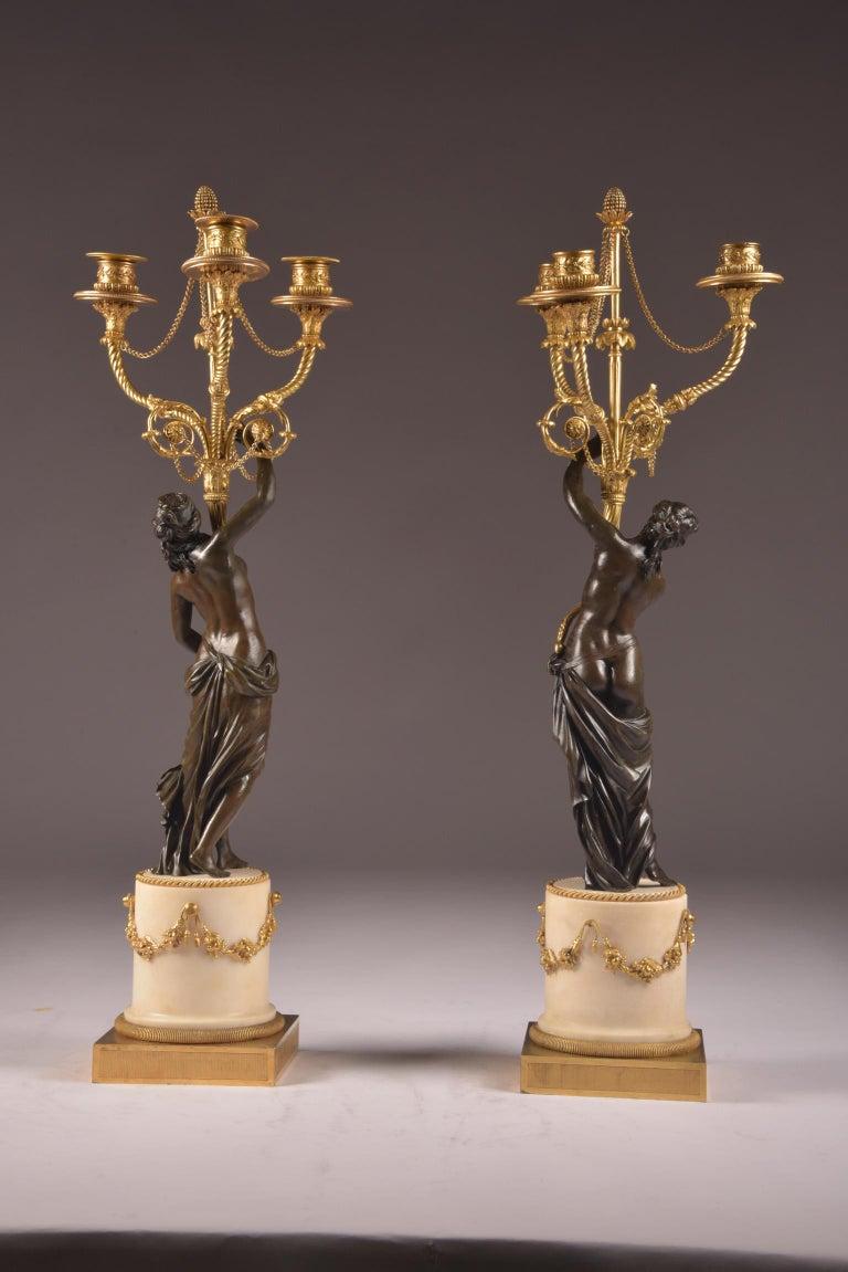 Pair of Rare 18th Century, Louis XVI Ormolu, Candelabra, circa 1785 For Sale 12