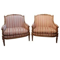Pair of Rare 19th Century French Louis XVI Gilt Marquises