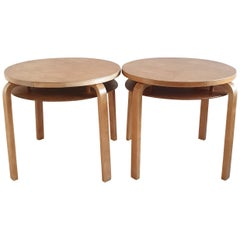Pair of Rare '907' Stacking Side Tables by Alvar Aalto for Artek, circa 1940