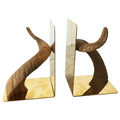 Pair of Rare and Extraordinary Carl Auböck Bookends, Austria, 1950s