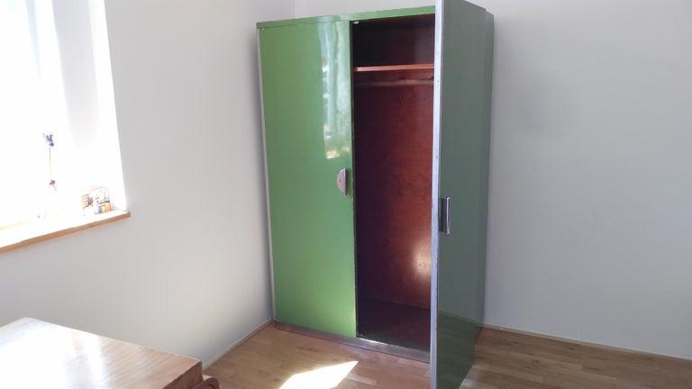 Pair of Rare Chrome Bauhaus Wardrobes For Sale 7