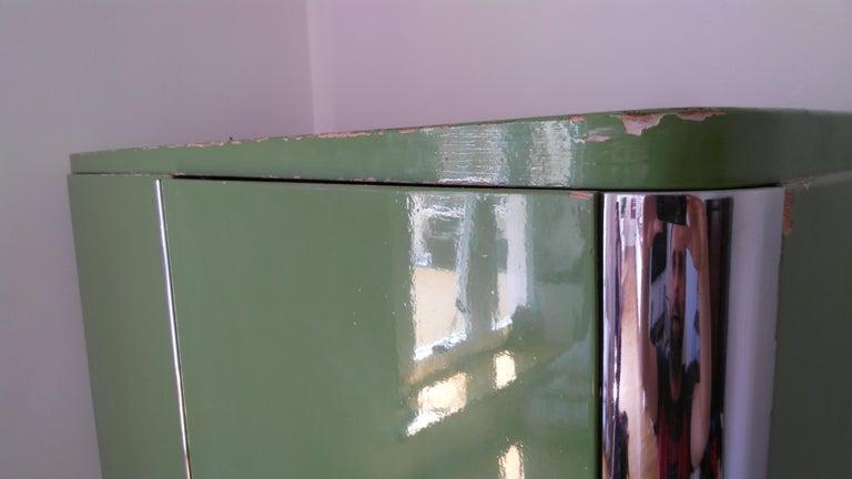 Pair of Rare Chrome Bauhaus Wardrobes For Sale 4