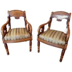 Pair of Rare Early 19th Century Baltic Neoclassical Chairs