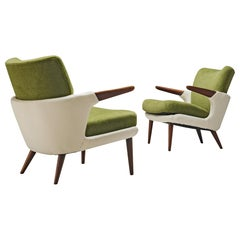 Pair of Rare Easy Chairs by Ib Kofod-Larsen