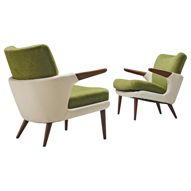 Pair of Rare Easy Chairs by Ib Kofod-Larsen For Sale