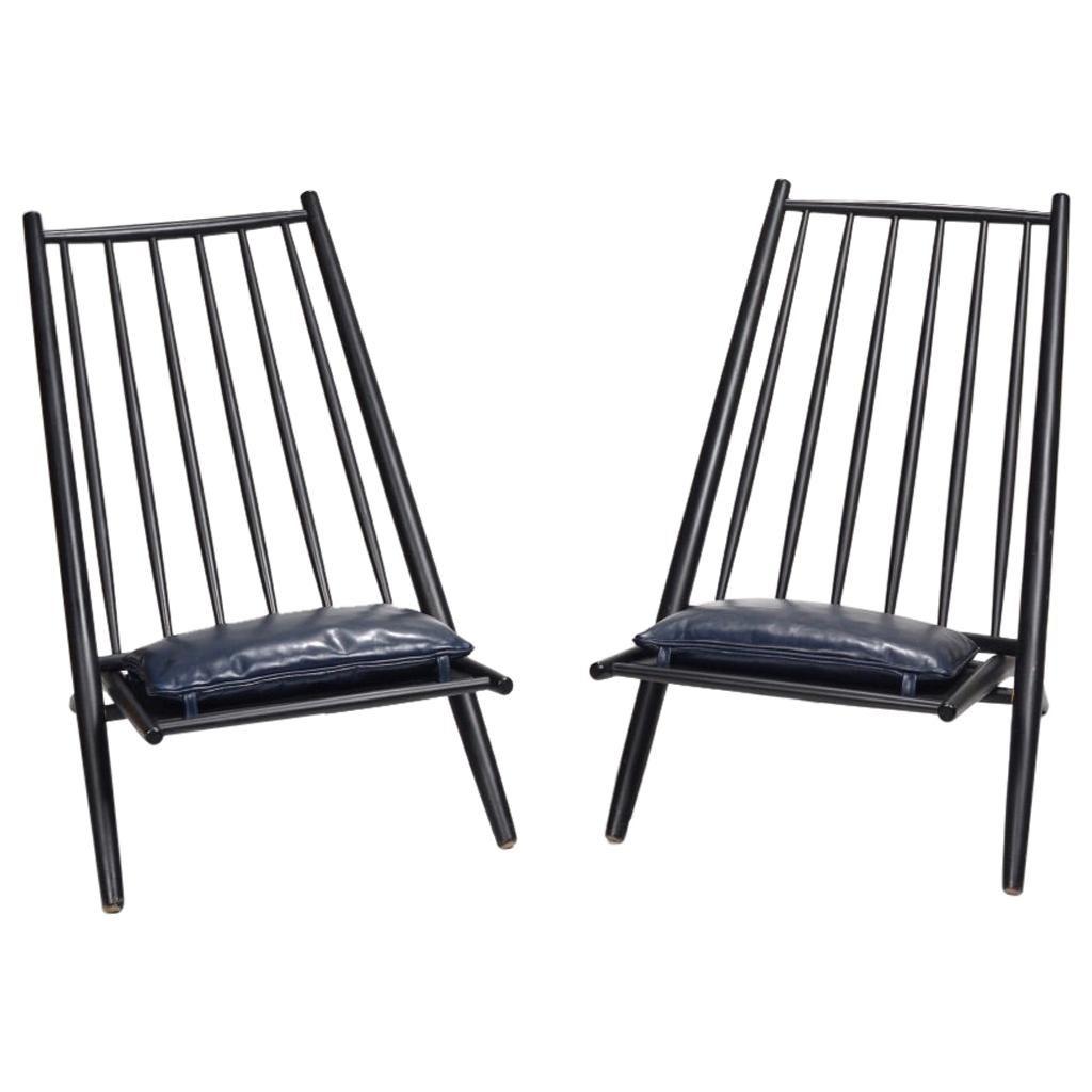 Pair of Rare Ilmari Tapiovaara Congo Lounge Chairs