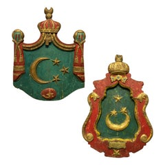 Pair of Rare Islamic Coats of Arms