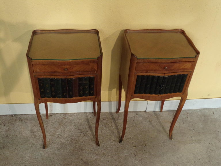Pair of Rare Louis XV Style Bedside Cabinets For Sale 1