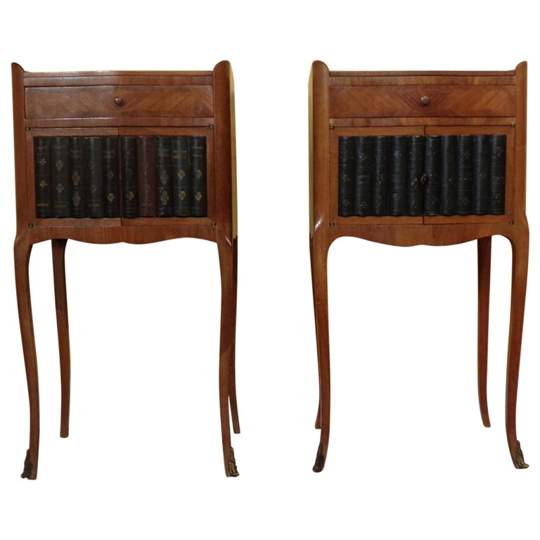 Pair of Rare Louis XV Style Bedside Cabinets For Sale