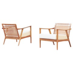 Pair of Rare Lounge Chairs by Knoll Ant., Germany 1960s