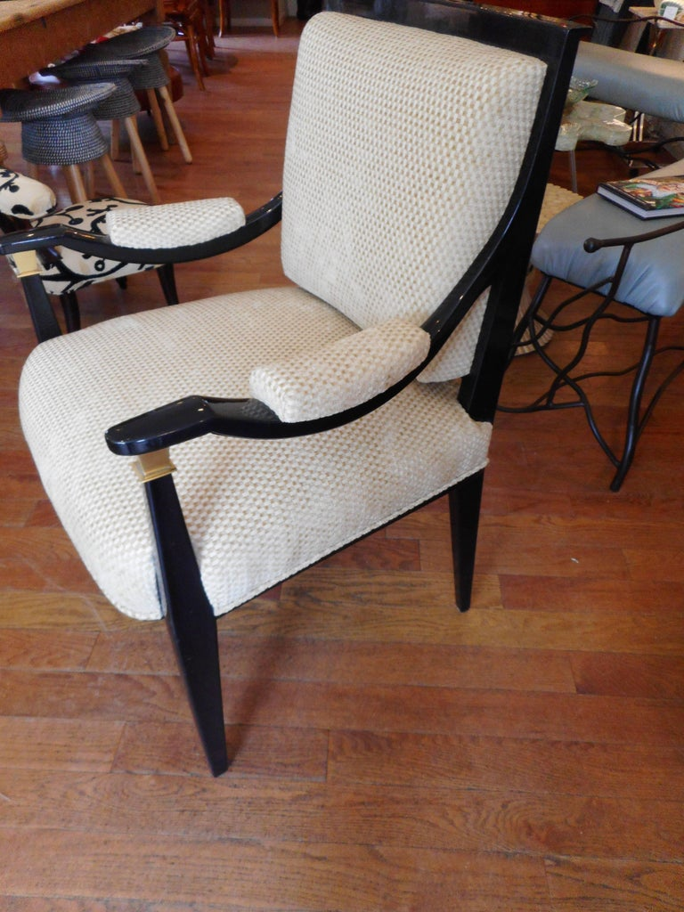 Pair of Rare Midcentury Italian Custom Chairs In Excellent Condition For Sale In Bellport, NY