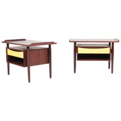 Pair of Rare Midcentury Nightstands in Rosewood Designed by Vodder, 1960s