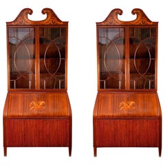 Pair of Rare Midcentury Trumeau Bookcases or Cabinets by Paolo Buffa, 1940