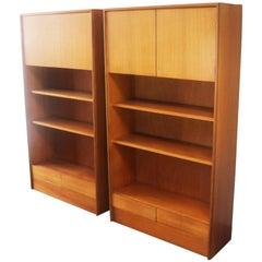 Pair of Rare Original Midcentury G Plan Bookshelves Units