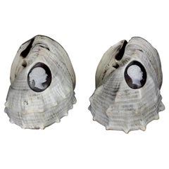 Pair of Rare Shell Cameos Depicting Queen Victoria and Prince Albert