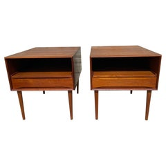 Pair of Rare Solid Teak Side Tables by Johannes Aasbjerg