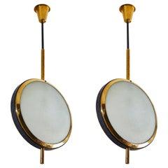 Two Rare Stilnovo Pendants