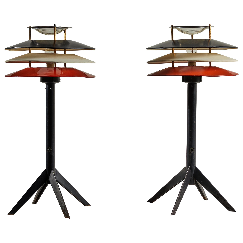 Pair of Rare Stilnovo Table Lamps