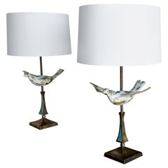 Pair of Rare Table Lamps by Pepe Mendoza