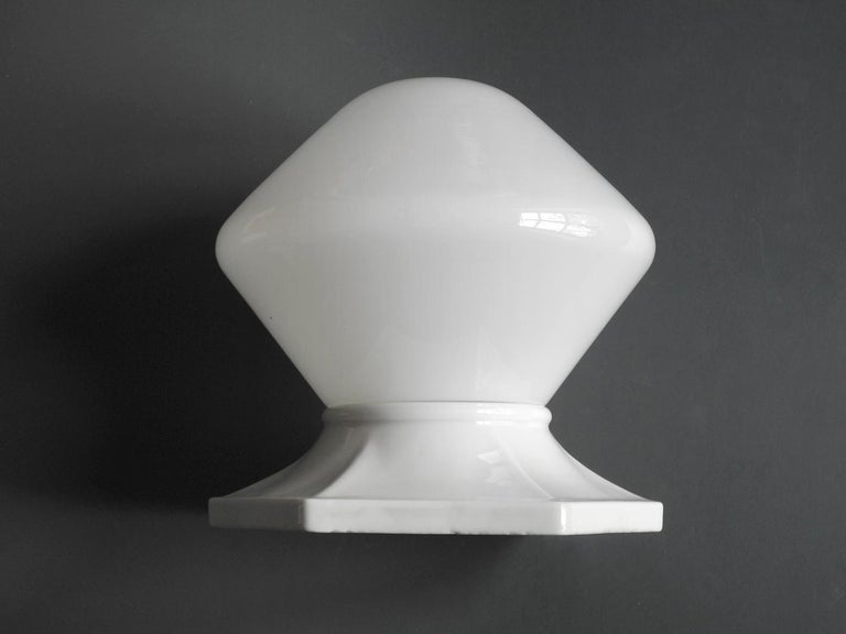 Mid-20th Century Pair of Rare Extra Large Mid-Century Modern Glass Ceramic Ceiling Lamps For Sale