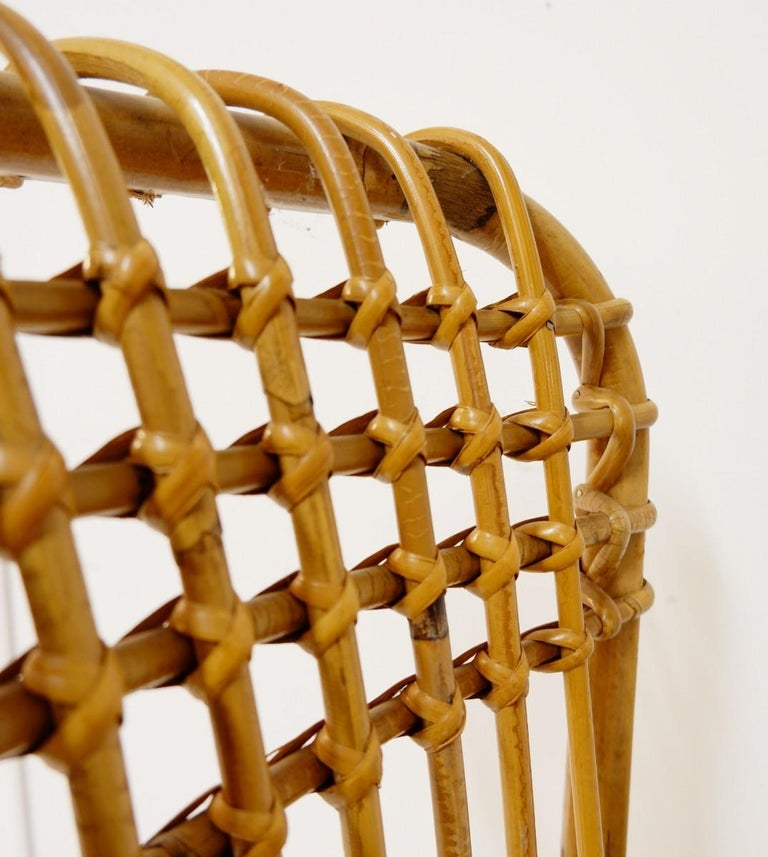 Pair of Rattan Armchairs In Good Condition For Sale In Brussels, BE