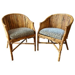 Pair of Rattan Tub Chairs
