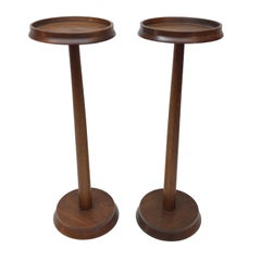 Pair of Raymor Walnut Side Tables or Plant Stands