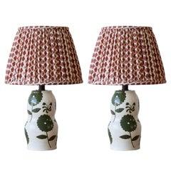 Pair of Rebekah Miles Ceramic Table Lamp
