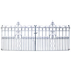 Pair of Reclaimed Wrought Iron Driveway Gates