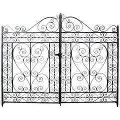 Pair of Reclaimed Wrought Iron Gates